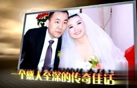 婚庆婚礼震撼乌云密布闪电飞石背景片头AE模板