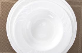 西餐烹饪食物盛用器皿小而浅的圆形陶瓷碟子C4D模型