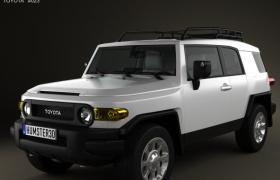 豐田TOYOTA FJ酷路澤緊湊型SUV概念汽車C4D模型展示