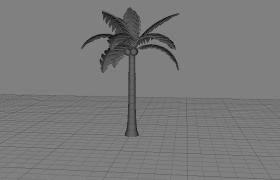 热带海岛大型植物棕榈科常绿乔木椰子树C4D模型