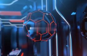 足球比赛启动式震撼隧道文字标题预告全过程AE模板