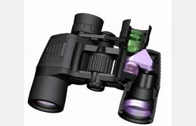 15倍遠距離高倍率雙筒望遠鏡軍火庫作戰裝備C4D模型