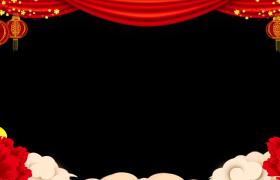 动态拜年边框_梅枝摇曳花瓣飞舞MG动画新春拜年边框素材