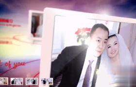 情缘婚礼图文故事婚庆唯美天空滑屏展示AE模板