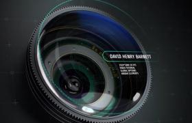 內容片頭機器圓形單反攝像機對焦攝影AE模板