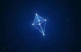 标志揭示利用几何空间图形旋转3D效果特效AE模板