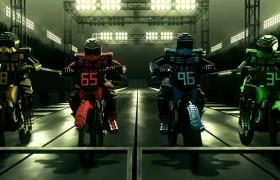 炫酷积木赛车手3D灯光赛道驰骋MOV特效视频素材