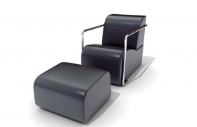 高品質時尚家居設計PU皮質老板座椅C4D模型