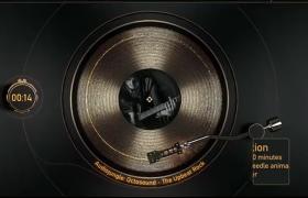 怀旧专辑可视化随音而动音乐歌曲波形娱乐动画AE模板