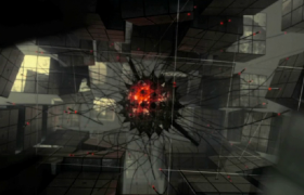3D魔幻空間神秘光球線條延伸震撼科幻片頭20s視頻素材