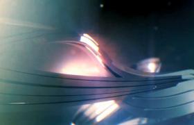 三維星空呈現3D金屬模型不斷扭曲延伸科技片頭特效視頻素材