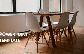 简洁几何图形精致商务风年终汇报企业团队宣传动态PPT模板