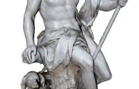 手持長柄武器的chasseur獵師國外人物雕塑Cinema4d R15模型展示