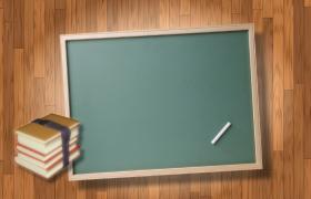 木板拼接背景黑板书籍悬浮运动动画效果儿童卡通视频背景