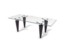 黑色錐形圓臺支架設計創意性透明玻璃茶幾客廳家居擺件C4D模型