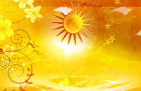 金色太阳旋转漂亮花纹快速生长儿童卡通视频素材