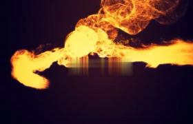 LOGO动画揭示片头10秒火焰快速撞击AE模板