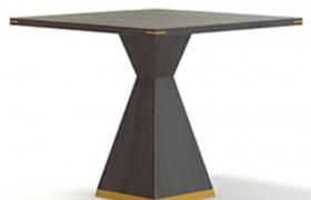 創意性設計高品質格調方桌酒店商務型室內家居C4D模型(含材質貼圖)