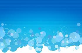 蓝色横条背景梦幻气泡大小变幻清新简洁HD儿童卡通视频