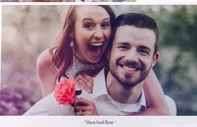 夏之恋甜蜜婚礼电子相册回忆婚庆展示AE模板
