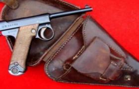 侵华时期日军长官装备的半自动制式手枪C4D模型(含贴图教程)