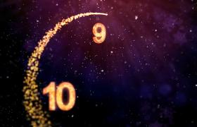 光效粒子回環穿梭拖尾動態2020新年十秒倒計時視頻素材