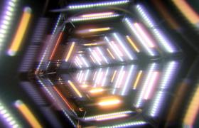 六邊形燈光隧道循環快速穿梭動感舞臺超炫VJ視頻素材