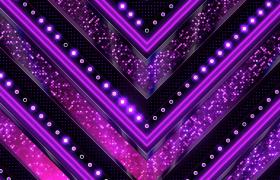 紫色粒子平面闪耀箭头向下前行动态循环VJ视频素材