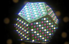 粒子灯光几何图形空间翻转闪烁唯美梦幻浪漫VJ视频素材下载
