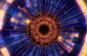 透明玻璃質感環形通道穿梭前行夢幻炫酷VJ視頻素材