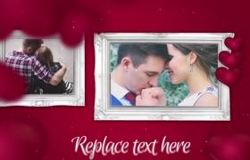 精致相框浪漫七夕心动情人节告白求婚片头AE模板
