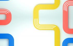 炫彩管道白色線條整齊滑動HD動態卡通視頻背景