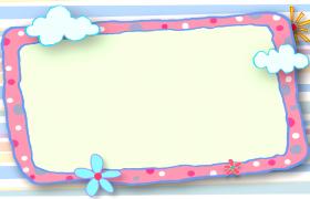 卡通炫彩橫條背景粉色懸浮圓點框設計兒童歡慶視頻背景