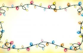 闪烁彩灯卡通边框设计儿童节卡通动态视频背景