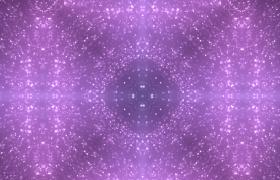多相位夢幻紫色粒子對稱演繹唯美空間萬花筒視效舞臺背景視頻素材