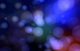 天藍粒子光斑空間三維酷炫展示動態舞臺背景視頻素材