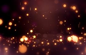 金色圓形光效粒子彈跳動感酷炫舞臺展示背景視頻素材