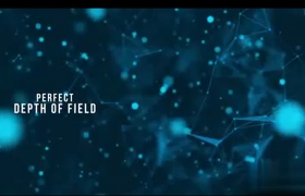 文字標題展示夢幻星空點線星星連接AE模板