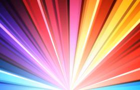 炫彩放射条旋转白色光效点亮MOV卡通动态背景视频