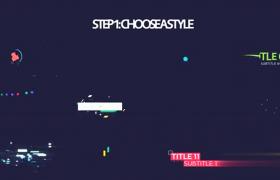 文字标题展示图文片头炫彩活力动作跳动AE模板