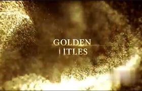 金色粒子流年會開場文字標題開場動畫展示AE模板