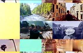 夏日之约旅游多照片排版幻灯片展示AE模板