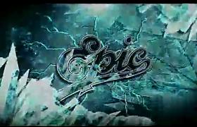 震撼大气史诗冰封揭示LOGO标志闪烁展示AE模板