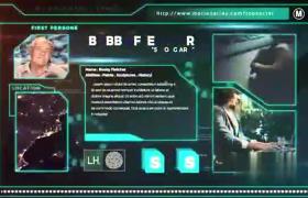图文介绍数字科技游览器展示信息干扰抖动效果AE模板