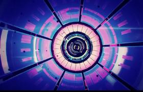 空間環形通道軌跡穿梭三維相機視覺效果LED視頻素材