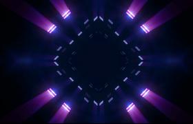 线段秒回菱形空间隧道循环闪烁三维空间穿越动感LED视频素材