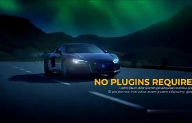 影视片头故障闪烁效果作品展示简约影视图文转场AE模板