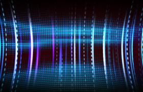 湛蓝视觉空间线条扭曲动感运动唯美舞台背景LED视频素材
