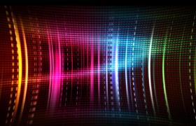 七彩辉光环形隧道光线扭曲运动大气唯美LED视频素材