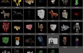 C4D模型預設:我的世界人物角色模型合集像素游戲模型包下載